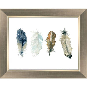 Feather Collection I - Framed With Glass - Lady of the Lake