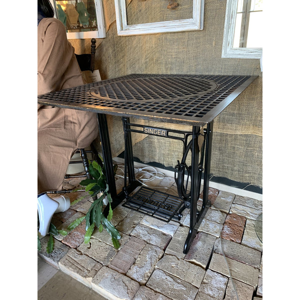 "Floor Grate & ""Singer"" Base Table - Lady of the Lake"