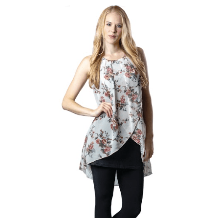 Floral Sleeveless Blouse - Lady of the Lake