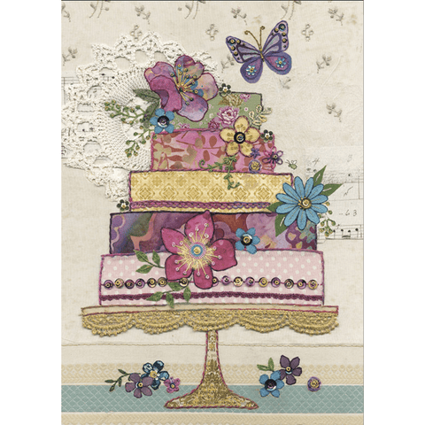 'Flower Cake' Charming Greeting Card - Lady of the Lake