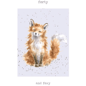 'Forty and Foxy' Charming Greeting Card - Lady of the Lake