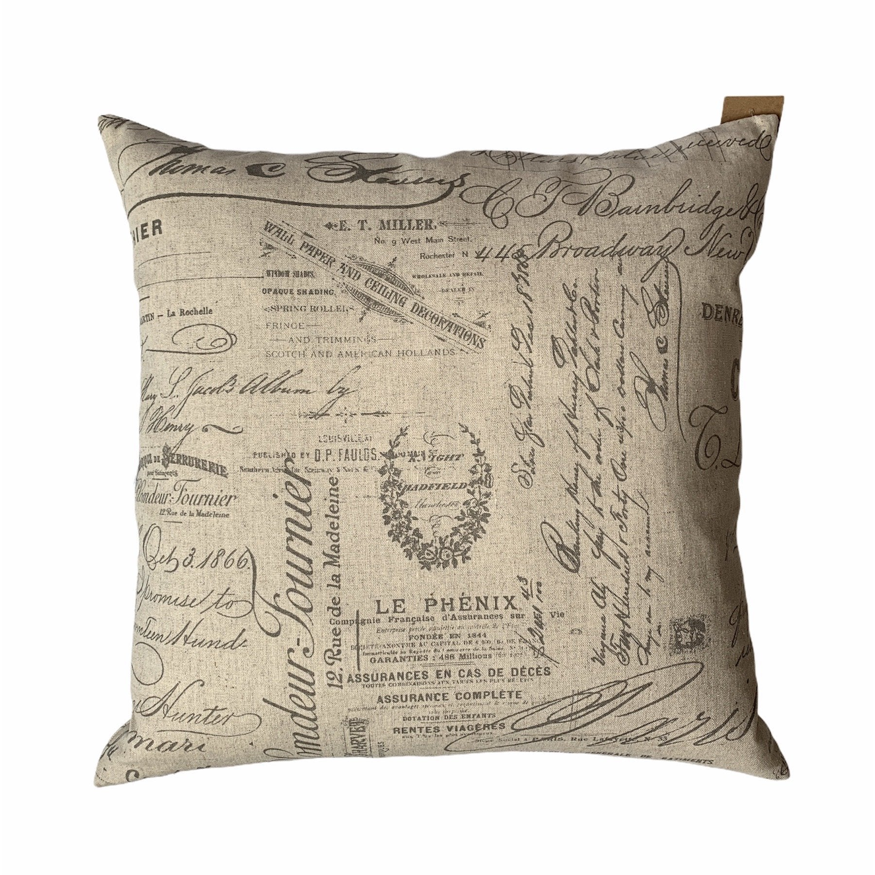 French Script Pillow - Lady of the Lake