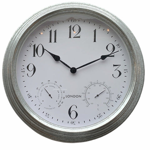 Galvanized Wall Clock - Lady of the Lake