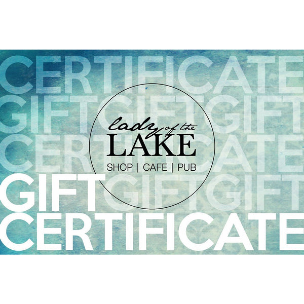 Gift Certificate - Lady of the Lake
