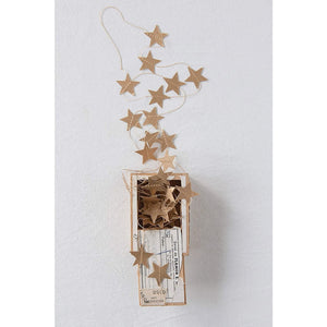 Gold Color Paper Star Garland - Lady of the Lake