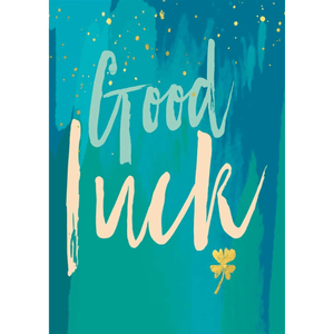 'Good Luck' Greeting Card in Blue - Lady of the Lake