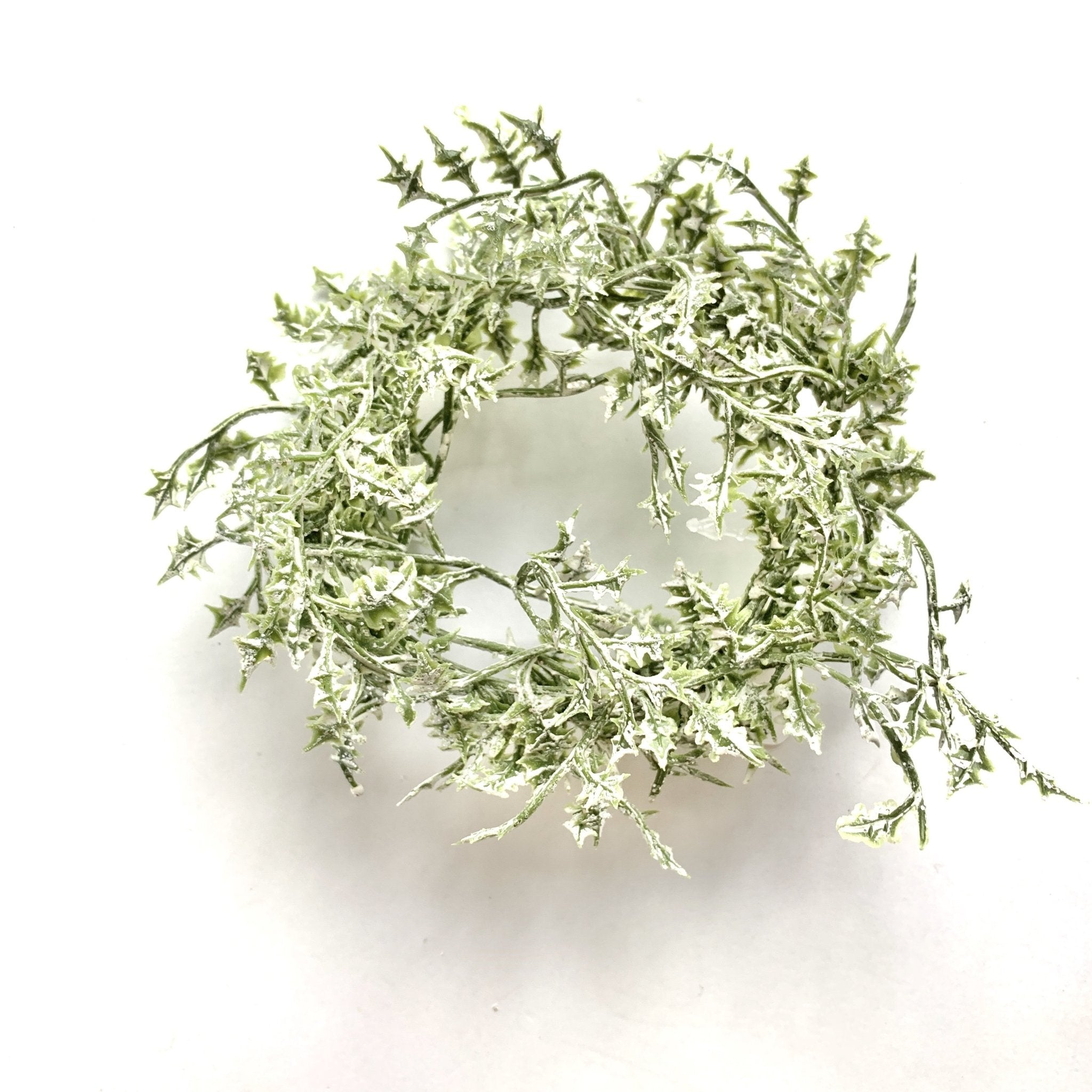 "Green Holly Candle Ring 4"" - Lady of the Lake"