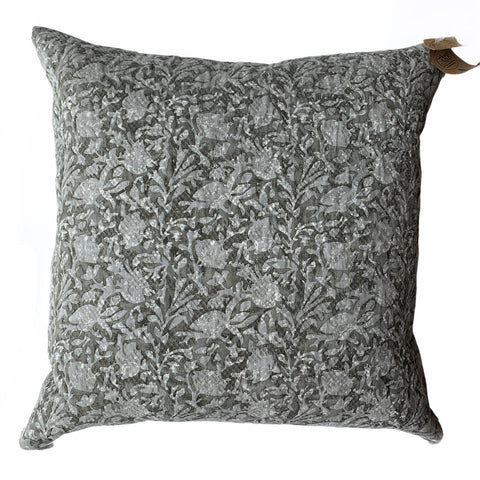 Grey Foliage Accent Cushion - Lady of the Lake