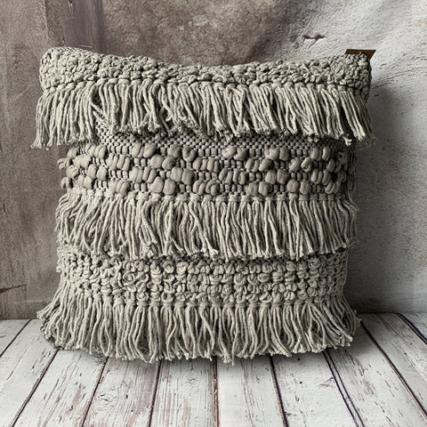 Grey Shag Pillow - Lady of the Lake