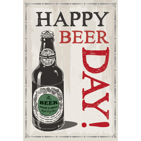 Happy Beer Day - Greeting Card - Birthday - Lady of the Lake