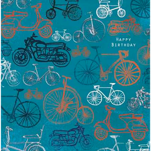 Happy Birthday Bikes - Greeting Card - Birthday - Lady of the Lake