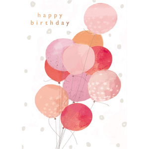 'Happy Birthday' Charming Painted Balloon Greeting Card - Lady of the Lake