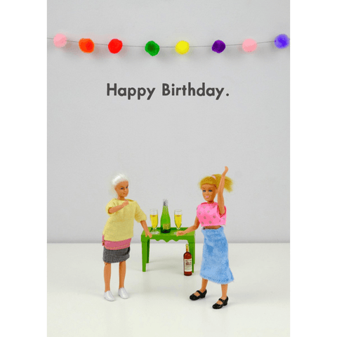 'Happy Birthday Drunk Dance' Humourous Greeting Card - Lady of the Lake