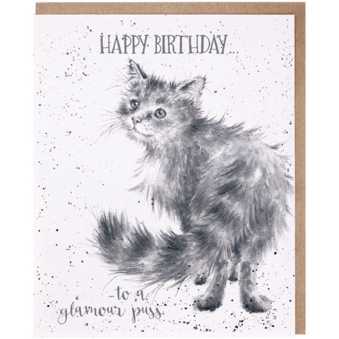 'Happy Birthday... to a Glamour Puss' Charming Greeting Card - Lady of the Lake