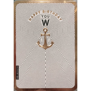 Happy Birthday You W Anchor - Greeting Cards - Birthday - Lady of the Lake
