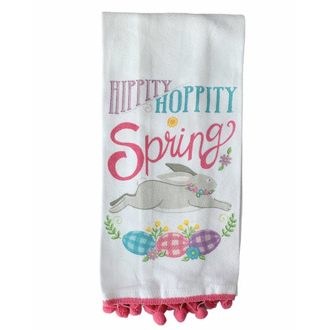 Hippity Hoppity Spring... Printed Tea Towel - Lady of the Lake