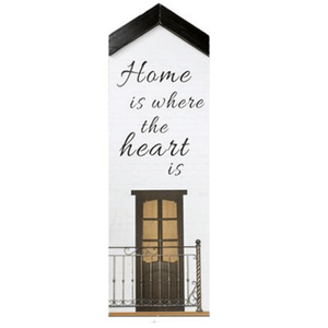 House-Shaped Wall Plaques with Home Quote (6 Options) - Lady of the Lake