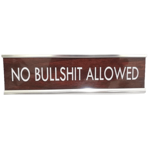 Humorous Faux-wood and Metal Desk Signs for Home or the Office - Lady of the Lake
