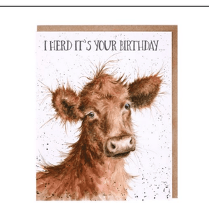 'I Herd it's Your Birthday' Charming Greeting Card - Lady of the Lake