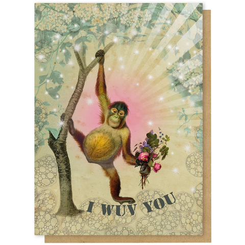 I Wuv You - Greeting Card - Love - Lady of the Lake