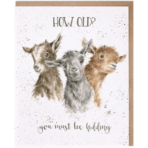 'Just Kidding' Charming Greeting Card - Lady of the Lake