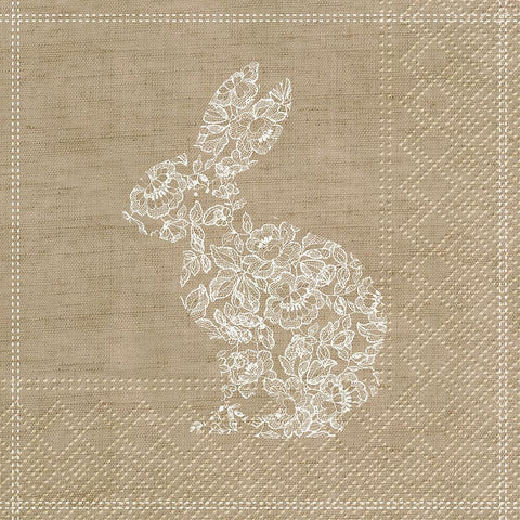 Lace Bunny - Paper Napkin - Lady of the Lake