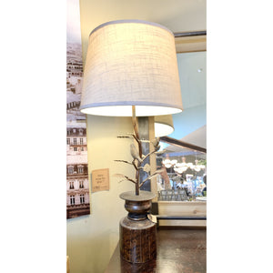 Lamp With Bird Accents - Lady of the Lake