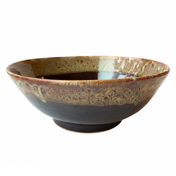 Large Brown Pottery Bowl - Lady of the Lake
