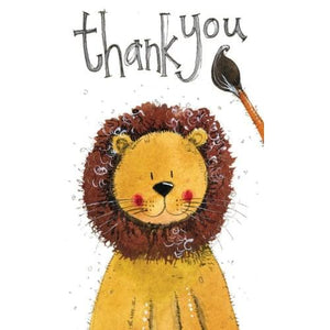 Lion Thank You - Greeting Card - Thank You - Lady of the Lake