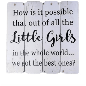 'Little Girls' Wooden White Wall Plaque - Lady of the Lake