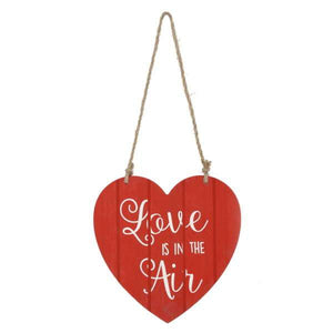 Love Is In The Air - Red Hanging Heart - Lady of the Lake