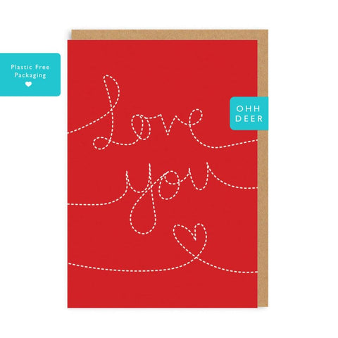 Love You - Greeting Card - Love - Lady of the Lake