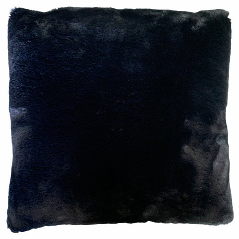 Luxury Faux Fur Pillow - Black - Lady of the Lake