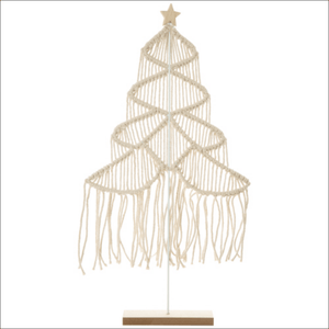Macramé and Wire Star-Topped Tree (Small or Large size) - Lady of the Lake
