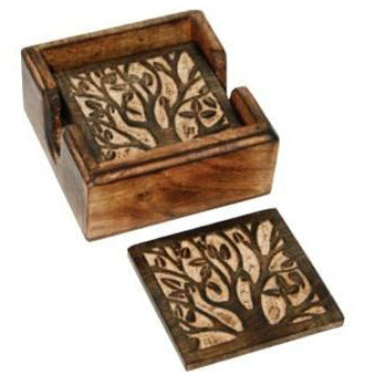 Mango Wood Coasters - Blooming Tree - Lady of the Lake