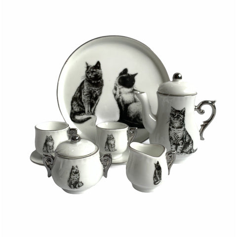 Miniature Tea Set - Cat - Lady of the Lake