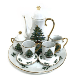 Miniature Tea Set - Christmas Tree - Lady of the Lake