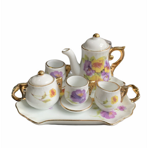 Miniature Tea Set - Pansy - Lady of the Lake