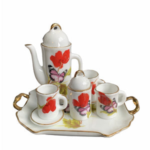 Miniature Tea Set - Poppy with Butterfly - Lady of the Lake