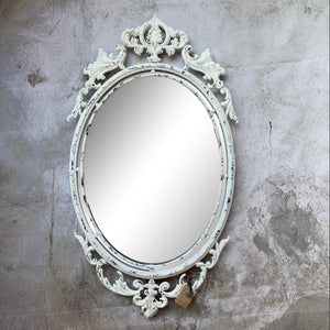 Mirror With Distressed Scroll Detail - Lady of the Lake