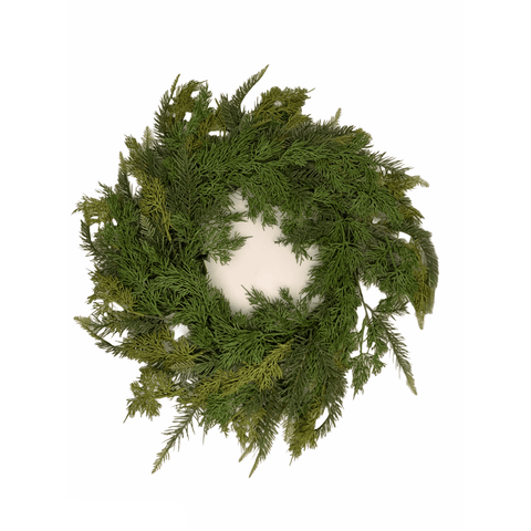 Mixed Green Wreath - Lady of the Lake