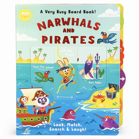 Narwhals & Pirates Board book – Lift the flap - Lady of the Lake