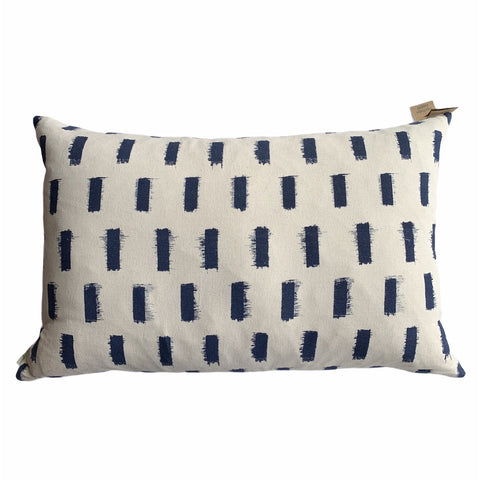 Off White With Blue Pattern Pillow - Lady of the Lake