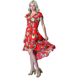 Olé Dress - Coral - Lady of the Lake