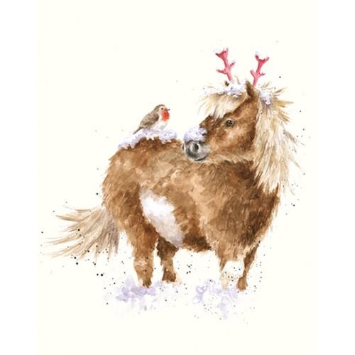 One Horse Open Sleigh - Christmas Card - Lady of the Lake
