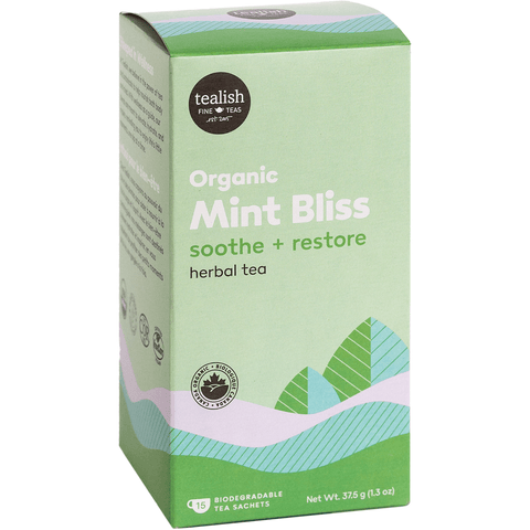 Organic Mint Bliss Tea Sachets - Tealish - Lady of the Lake