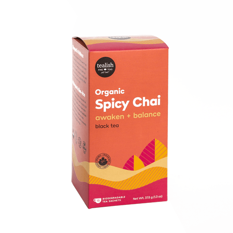 Organic Spicy Chai Tea Sachets - Tealish - Lady of the Lake