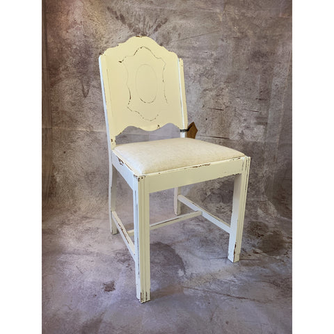 Painted Chair with Fabric Seat - Lady of the Lake