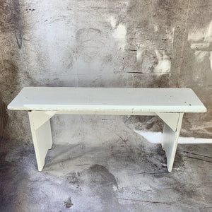 Painted Wooden Farmhouse Bench - Lady of the Lake