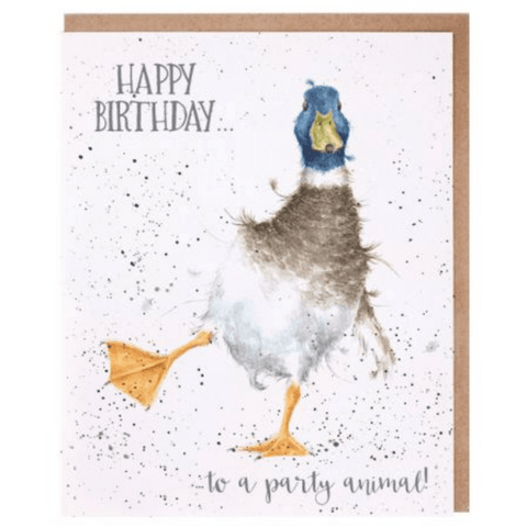 'Party Animal' Charming Greeting Card - Lady of the Lake